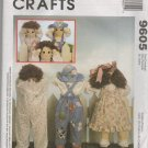 "MCCALLS 9605 Craft 25"" DOLLS  AND CLOTHES"