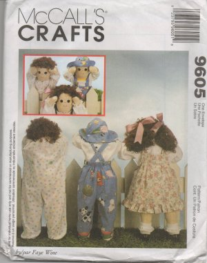 """MCCALLS 9605 Craft 25"""" DOLLS  AND CLOTHES"""