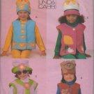 VOGUE 9716 CHILDREN'S APPLIQUED VEST & HATS