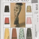 MCCALLS 2129 MISSES' SKIRT IN TWO LENGTHS