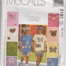 MCCALLS 2191 CHILDREN'S AND GIRLS' T-SHIRT & PULL-ON SHORTS, POUCH AND VISOR