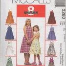 MCCALLS 3260 CHILDRENS' AND GIRLS' SUNDRESSES