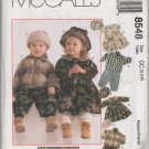 MCCALLS 8548 TODDLERS' UNLINED JACKET, DRESS PANTS, CAP  AND HAT