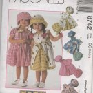 MCCALLS 8742 CHILDRENS' AND GIRLS' DRESS HAT AND PANTIES