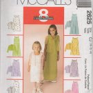 McCalls 2625 Children's and Girl's' Dresses In two lengths and Shirt-Jacket