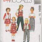 MCCALLS 8924 CHILDRENS' LINED VEST, TOP, PANTS AND SKORT