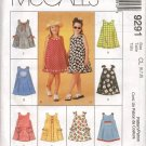 MCCALLS 9291 CHILDRENS' AND GIRLS' DRESS