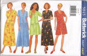 BUTTERICK 5045 MISSES' DRESS & JUMPSUIT
