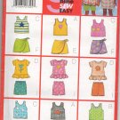 MCCALLS 5497 CHILDREN'S AND GIRLS' TOP, SKORT AND SKORTS