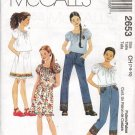 MCCALLS 2653 GIRLS' TOP, SKIRT AND PANTS IN TWO LENGTHS