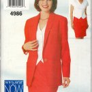 BUTTERICK 4986 MISSES' JACKET, TOP & SKIRT