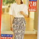 BUTTERICK 6886 MISSES' TOP, & SKIRT