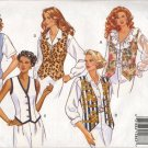 BUTTERICK 6714 MISSES' VESTS  SZ 6-12