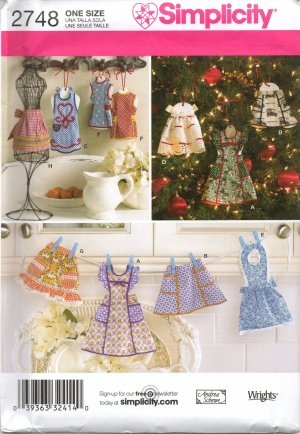 SIMPLICITY 2748 Christmas Ornaments Craft  Pattern