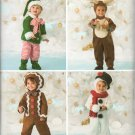 SIMPLICITY  2537 TODDLERS' CHRISTMAS COSTUMES, REINDEER, ELF,  GINGERBREAD BOY  & SNOWMAN