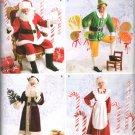 SIMPLICITY  2542 ADULT CHRISTMAS COSTUMES, SANTA, ELF, VINTAGE SANTA & MRS. CLAUS