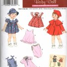 Simplicity 3879 WARDROBE FOR BABY DOLLS IN THREE SIZES