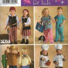 SIMPLICITY  3650 TODDLERS'  COSTUMES, COWBOY/GIRL,  PIRATE, DOCTOR, NURSE, CHEF  SZ 1/2 -4