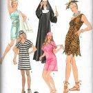 SIMPLICITY 2518 MISSES COSTUME - NUN, CAVE WOMAN, NURSE, PRISONER  & ROMAN WOMAN SZ 6/8 - 22/24