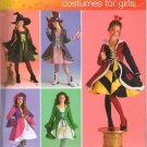 MCCALLS 2834 GIRLS COSTUME - WITCH, MS LIBERTY, JESTER, LUCKY CHARM & QUEEN OF HEARTS SZ 7-14