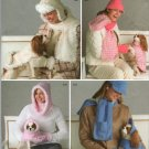 SIMPLICITY 4316  MISSES' HATS, SCARF, GLOVES  & DOG CLOTHES