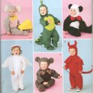 SIMPLICITY 2506 TODDLER'S COSTUMES- MOUSE, DINOSAUR, PANDA, ANGLE & DEVIL