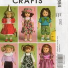 MCCALLS M5554 CRAFT PATTERN- 18 inch DOLL CLOTHES