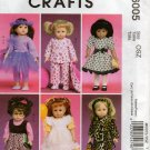 MCCALLS M6005 CRAFT PATTERN- 18 Inch DOLL CLOTHES