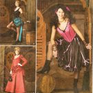 SIMPLICITY 2851 MISSES COSTUMES- SALOON OUTFIT, CAN-CAN, WILD WEST SIZE 6-12