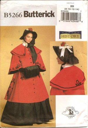 BUTTERICK B5266 MISSES COSTUMES- HISTORICAL Costume  SZ 8-14