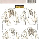 BUTTERICK B4486 MEN'S/MISSES' HISTORICAL SHIRTS XL, XXL, XXXL