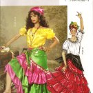 BUTTERICK B4889 MISSES COSTUMES- GYPSY, FLAMENCO Costume  SZ 6-12