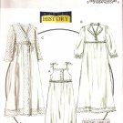 BUTTERICK B5544 MISSES' NIGHTGOWN, ROBE & SLIPPERS  COSTUME-HISTORICAL  SZ 4,6,8,10,12,14