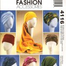 MCCALLS  4116 MISSES' TURBANS, HEADWRAP & HATS