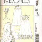 MCCALLS M4865 INFANTS' DRESS, SLIP, BONNET & BLANKET S