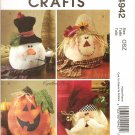MCCALLS M4942 CRAFT PATTERN- SEASONAL DECORATIONS