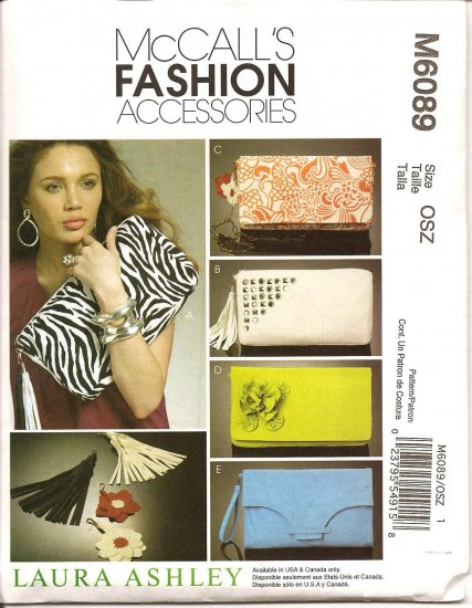 MCCALLS M6089  FASHION ACCESSORIES - CLUTCH BAGS