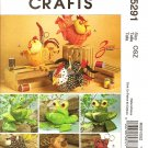 McCall's M5291 Craft Pattern ANIMAL SEWING CADDIES