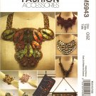 McCALL'S M5943 CRAFT PATTERN - CLUTCH, CUFFS AND NECKLACES