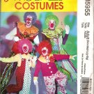 McCall's M5955 MISSES', MEN'S, CHILDREN'S, BOYS' AND GIRLS' CLOWN COSTUME Adult Sm thru xlg