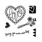 Loving More Each Day Clear Stamp