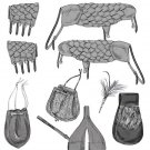 BUTTERICK B5580 SWORD HOLDER, BAGS, POUCH, BRACERS, SHOULDER COVERS AND FEATHER PIN