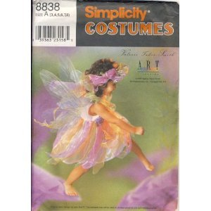 SIMPLICITY 8838 CHILD'S  Fairy Costume - Sizes 3, 4, 5, 6, 7, 8