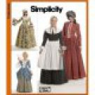 SIMPLICITY 3723 MISSES COSTUME- 18TH CENTURY  Puritan Colonial