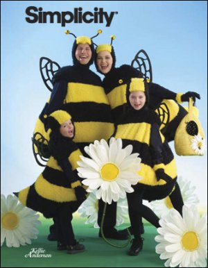 SIMPLICITY 2829 BUMBLE BEE  COSTUMES