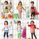 SIMPLICITY 1954 Child's costume aprons -holiday fashion accessories, in three sizes S, M & L