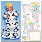 BUTTERICK B5583 Infants' Bunting, Jumpsuit, Shirt, Diaper Cover, ETC...