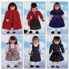 "BUTTERICK B5587 18"" (46cm) Doll Clothes"