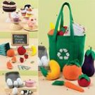 SIMPLICITY 2445 Collection of felt food and reusable shopping tote