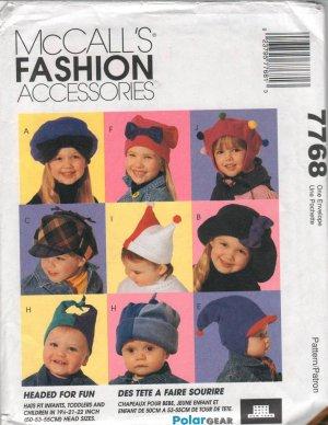 MCCALLS  FASHION ACCESSORIES 7768  KIDS' HATS